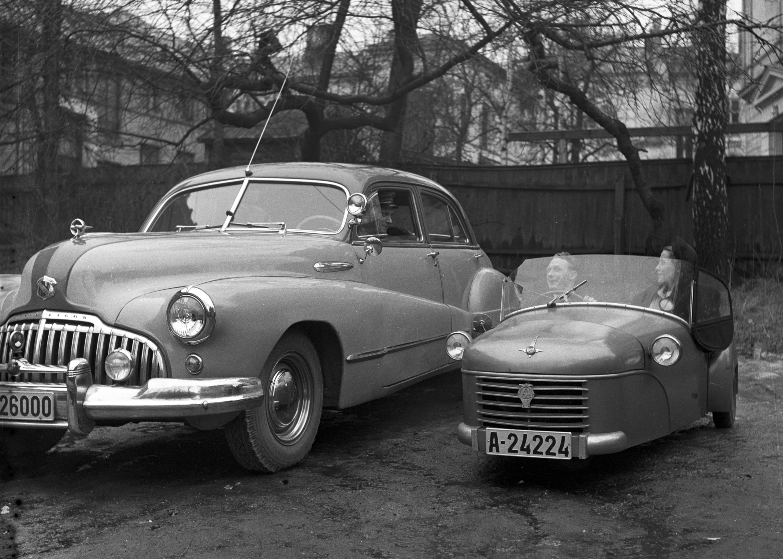 Engelske biler, Frognerseteren 1956