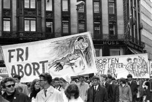 Bilde fra 1. mai i Oslo 1967.