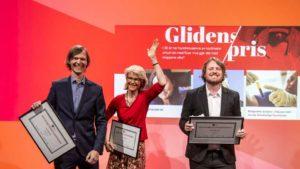 Siri Gedde-Dahl sammen med John Rasmussen og Bernt Jakob Oksnes